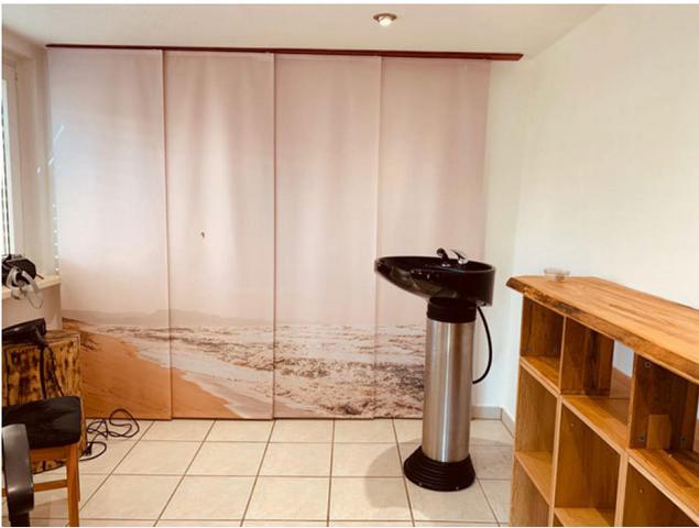 Flächenvorhang als Raumteiler im Studio