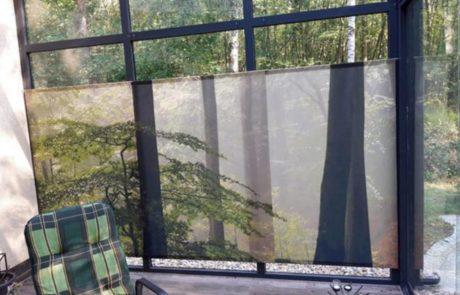 Flächenvorhang im Wintergarten blickdicht