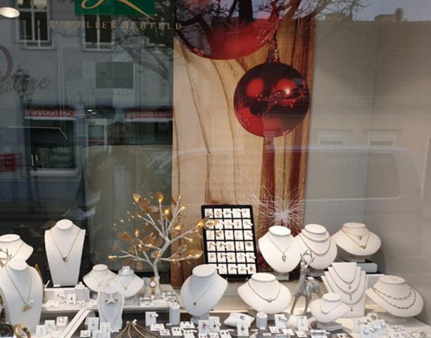 Weihnachten Flächenvorhang Schaufenster
